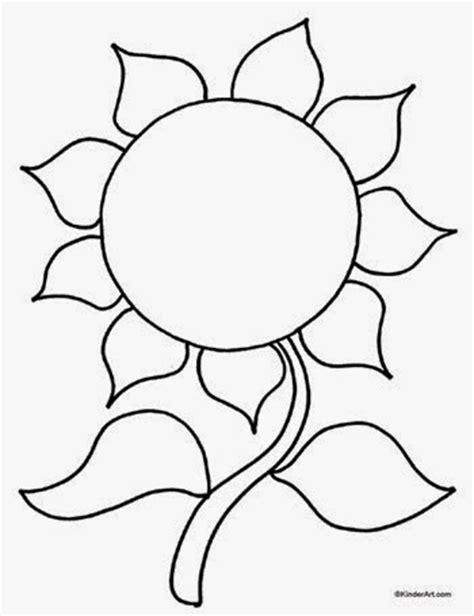 mewarnai gambar mewarnai gambar bunga matahari