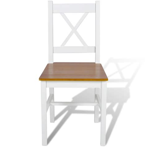 chaise en bois blanc acheter 4 pcs chaise salle 224 manger en bois blanc et