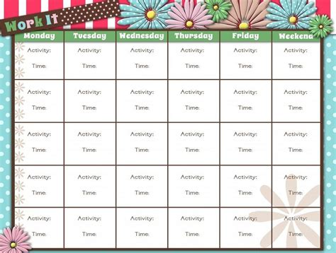 workout calendar printable workout calendar activity shelter calendar