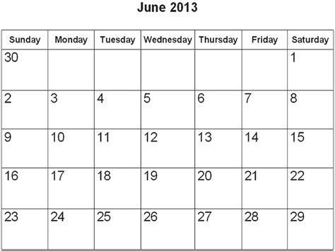 Calendar June 2013 June 2013 Calendar Template Http Webdesign14