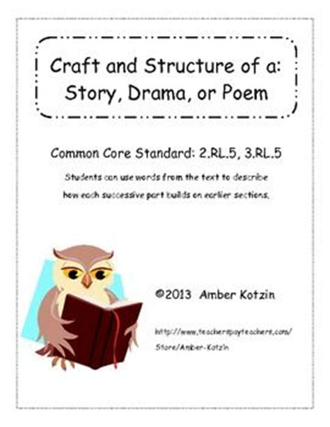 Crafting A In Essay Story Poem by Craft And Structure Story Drama Poem 2 Rl 5 3 Rl 5 Teaching Dramas Crafts