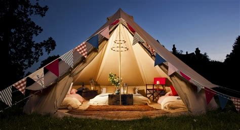 Mobile House by Glamping In Surrey England Bell Tent Glamping Holiday