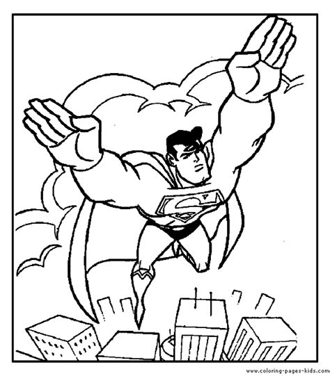 superman color page coloring pages for kids cartoon