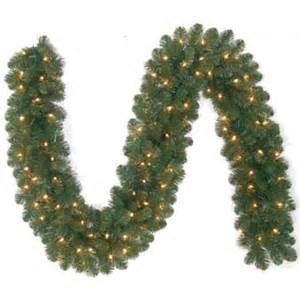 pre lit artificial christmas garland tiffany pre lit