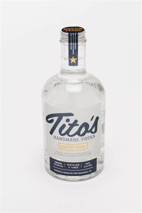 Handcrafted Vodka - tito s handmade vodka student project on packaging of