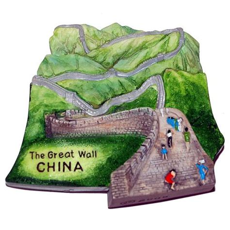 Souvenir Tempelan Magnet Great Wall China places i ve been to s magnet resin fridge magnet china