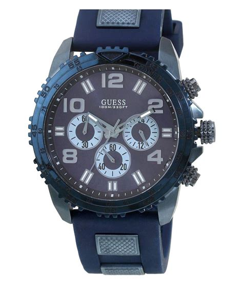 Fossil Fs5065 guess velocity blue chronograph