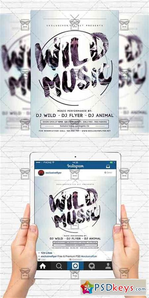 Wild Music Flyer Template Instagram Size Flyer 187 Free Download Photoshop Vector Stock Image Instagram Flyer Template