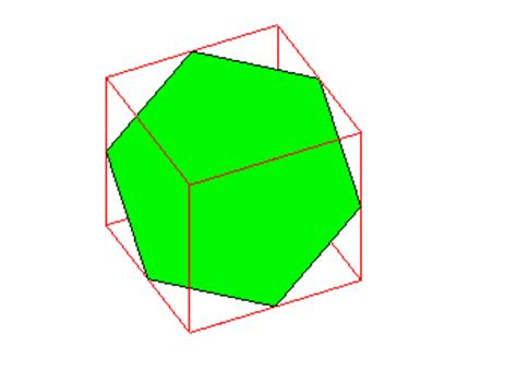 cross section of a cube mathematical experiment 6