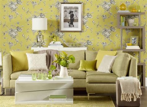 wallpaper for living room chartreuse living room with floral wallpaper living room