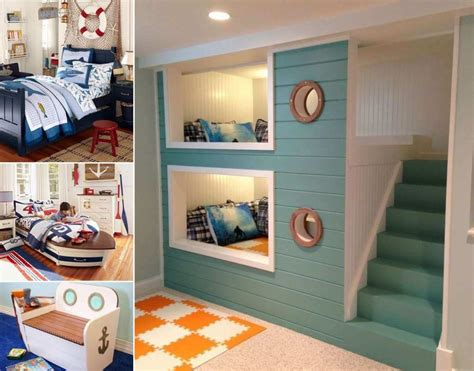Pottery Barn Storage Beds 10 Cool Nautical Kids Bedroom Decorating Ideas