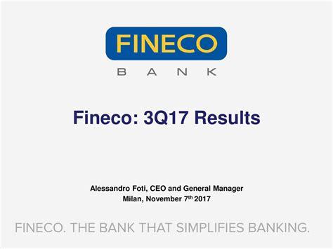 finecobank banca fineco spa finecobank banca fineco spa adr 2017 q3 results