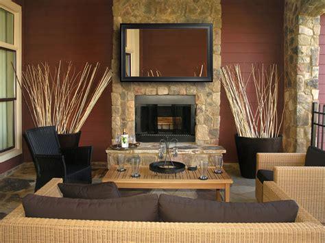 living room with chimney chimney mirror tv