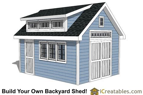 14x16 shed plans with dormer icreatables 12x16 shed plans with dormer icreatables