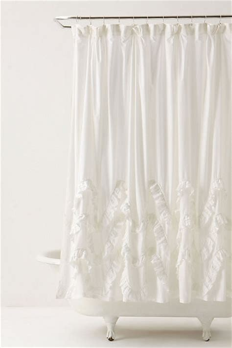 feminine shower curtains waves of ruffles shower curtain contemporary shower