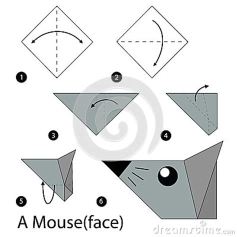 3d Origami Step By Step Illustrations - step by step how to make origami a mouse