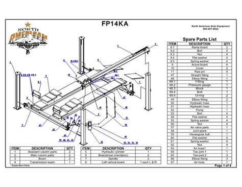 4 post car lifts engine diagram and wiring diagram