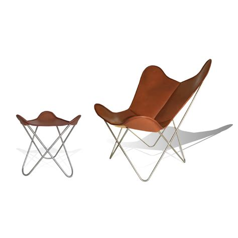 butterfly chair with ottoman hardoy butterfly chair original leather tobacco brown with