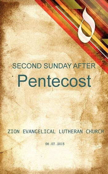 After Sunday 2 june 7 second sunday after pentecost zion evangelical