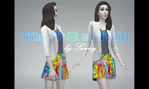 sims 4 custom content dresses printed silk mini skirt at sunny custom content 187 sims 4