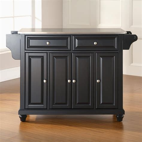 crosley furniture kitchen island shop crosley furniture black craftsman kitchen island at