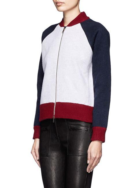 Sweater Rajut Jaket Cardigan Jaket Varsity Jaket Korea 3 lyst j crew bonded wool varsity sweater jacket