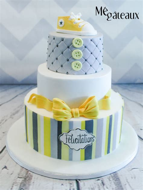 Yellow And Grey Baby Shower Cake by Yellow And Gray Baby Shower Cake Cakecentral