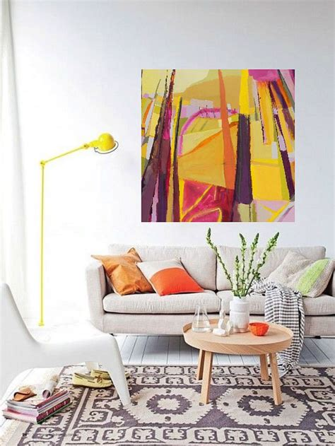 bold paint colors meaningful spaces bold colorful abstract art landscape painting by danielle