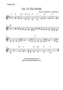 Joy to the world free christmas clarinet sheet music notes