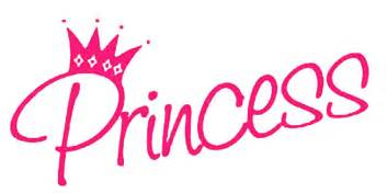 Gallery images and information: Pink Princess Word Art