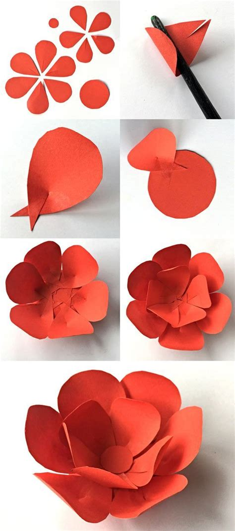 How To Make Easy Paper Flowers For Cards - best 25 construction paper flowers ideas on