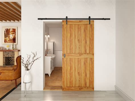 sliding door series 5500 hardware e bay 6 6 quot classic rustic black coffee sliding barn wood door