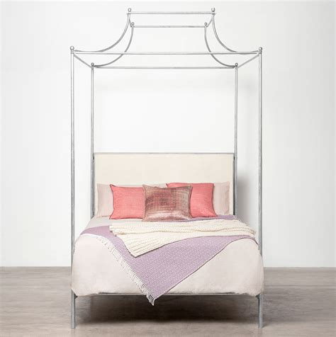 four poster bed canopy carissa queen canopy top four poster metal bed mecox gardens