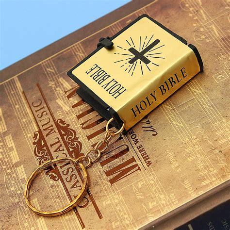 christian craft gold triquetrum mini holy bible keychain key ring vbs christian jesus black novelty craft gold ebay