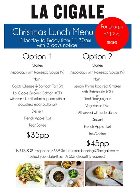 new year lunch menu 2015 lunch menu 2015 la cigale