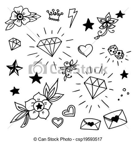 new school tattoo vector old school tattoo clipart 125