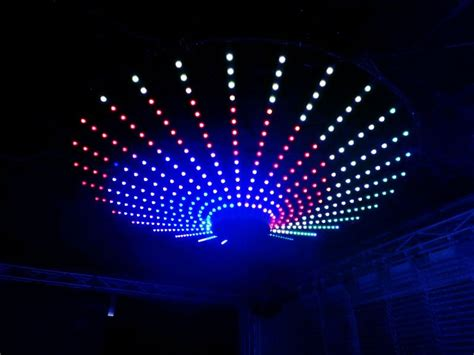 disco ceiling light disco decor led ceiling plate support madrix