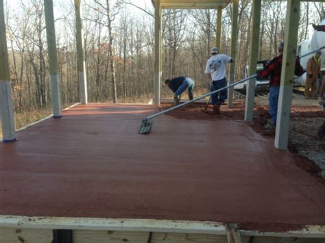 How To Pour A Concrete Slab For Garage pouring a 12x20 concrete slab for a garage concrete