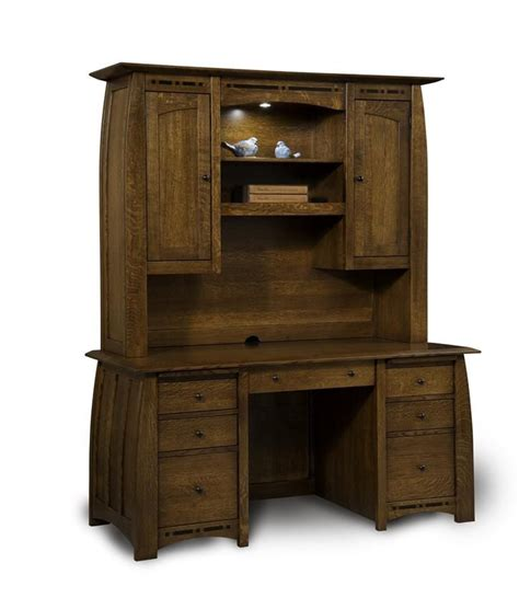1000 Images About Amish Executive Office Furniture On Computer Hutch Desks With Doors