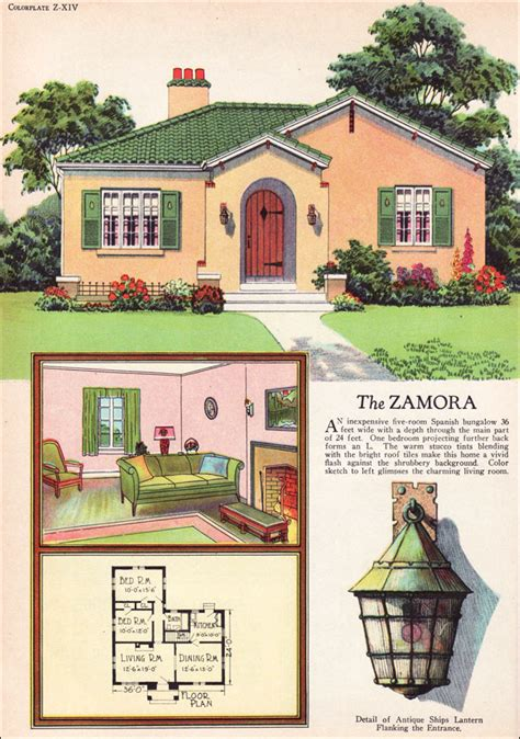 Vintage Cottage House Plans by 1927 Radford Zamora Eclectic Style Small House