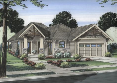 House Plans For Corner Lots by Well Suited For A Corner Lot House Plan Hunters