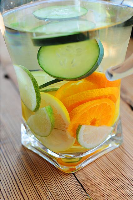 Lemon Lime Orange Cucumber Water Detox by Cucumber Orange Water Recipe Dishmaps
