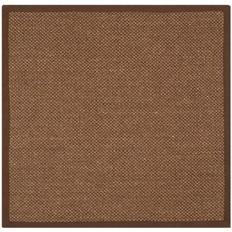 rug square safavieh fiber brown 4 ft x 4 ft square area rug nf443d 4sq the home depot