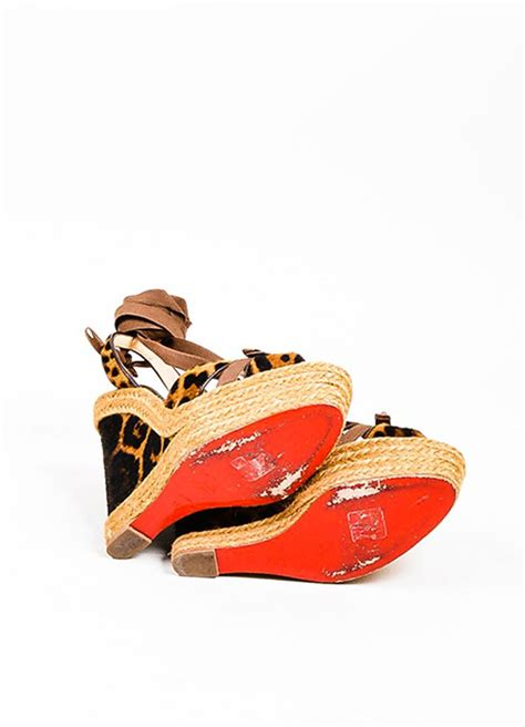 Chain Leopard Louis Vuitton Shoes by Christian Louboutin Ponyhair Leopard Wedges Louis Vuitton