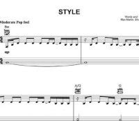 taylor swift style sheet music thinking out loud sheet music ed sheeran sheet music