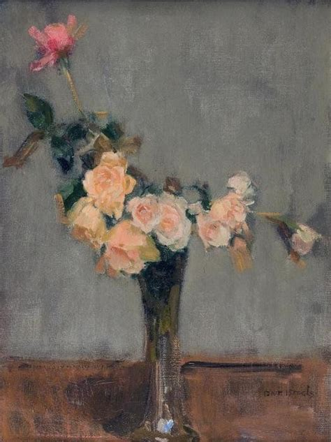 And The Beast Flower Vase by Isaac Lazarus Israels Roses In A Glass Vase Flower