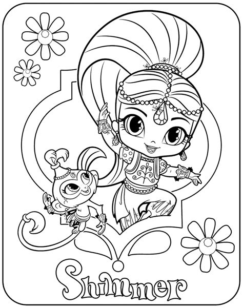 shimmer and shine coloring pages nick jr 30 magical shimmer and shine coloring pages