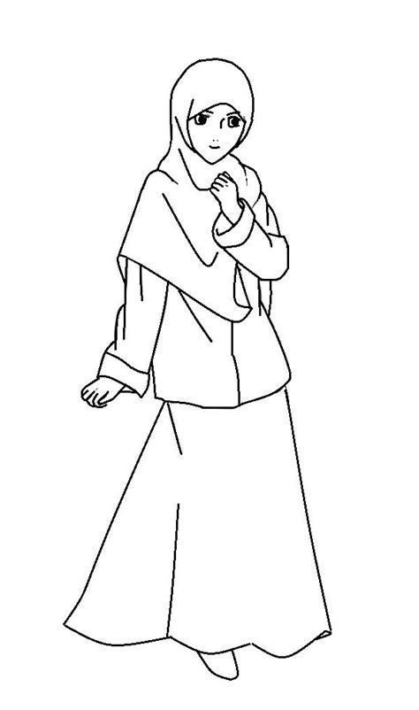 Baju Syari Wanita Putih Bw gambar mewarnai gambar anak soleha muslimah kecil memetik