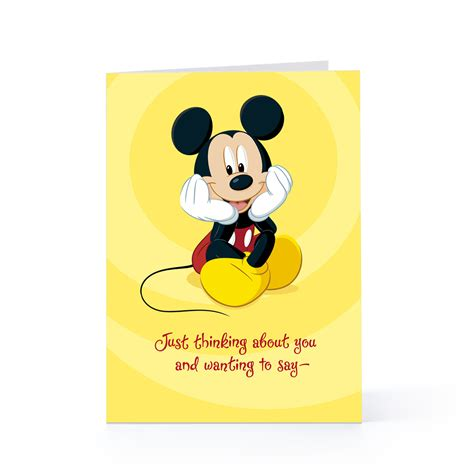 Mickey Mouse Greeting Card Template by Simple Greeting Card For Get Well Wishes Bi Fold Card With