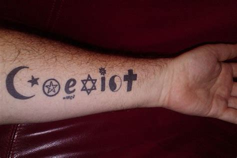 coexist tattoo best 25 coexist ideas on